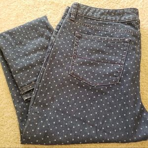Size 12 Merona Dotted Ankle Skinny Jeans